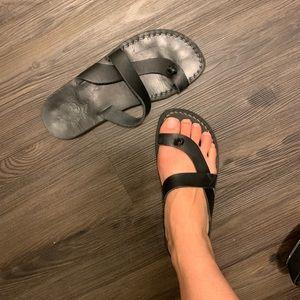 Free People Black Jerusalem Sandal Size 10